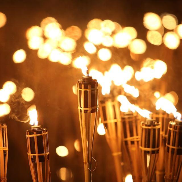 Randonnée de raquette aux flambeaux